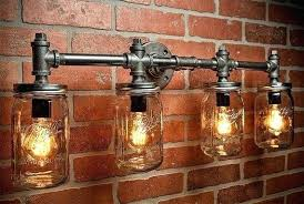diy mason jar light with iron pipe diy industrial lighting sisleyroche com