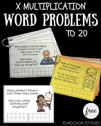free multiplication word problems multiplication word problems to 20 playdough to plato