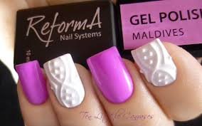 3d porcelain design with jeweled accent nail