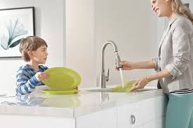 Hands Free Kitchen Faucets Moen 7594esrs Arbor Motionsense Just Wave The Water On