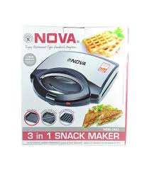 Nova 3 in 1 Grill Toast Sandwich Maker Waffle Snack maker Price