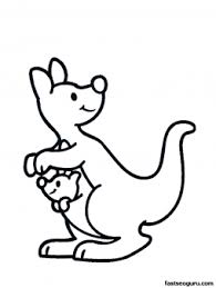 baby kangaroo coloring pages clipart panda free clipart images