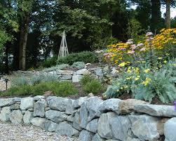 rock retaining wall houzz