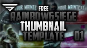 free rainbow six siege thumbnail template