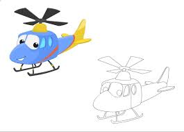 free printable helicopter colored coloring pages kindergarten