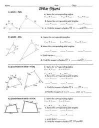 similar figures practice worksheet algebra 1 pinterest