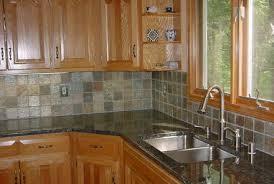 Brown Gray Metal Slate Backsplash by Kitchen Backsplash 4