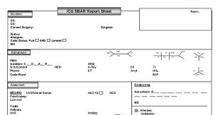 icu report sheet template icu sbar report sheet 5 5 12 pdf drive
