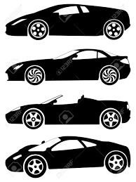 logo porsche vector silhouette a sport cars on a white background vector illustration