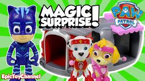 paw patrol magic surprise pup house marshall u0026 skye pj masks
