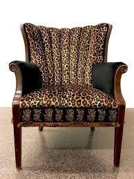 Leopard Print Accent Chair Animal Print Accent Chair Benefitting Community Warehouse