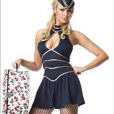 Toxic Halloween Costumes 69 Leg Avenue Britney Spears Toxic Flight Attendant