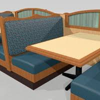 Restaurant Booths And Tables by Table Seating Restaurant 3d Model