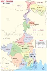 Blank Map Of The West Region by West Bengal Map Districts In West Bengal