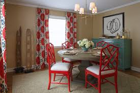 Red Kitchen Table by Kitchen And Dining Lorri Dyner Design