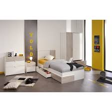 chambre complete garcon yoni chambre complète enfant style contemporain blanc et gris l 90