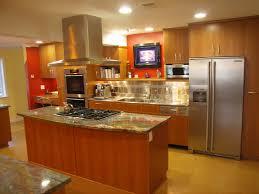kitchen cabinet knobs orange backsplash galley kitchen island