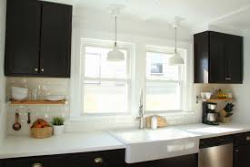 completed kitchen mocha maple shaker cabinets exotic granite tile