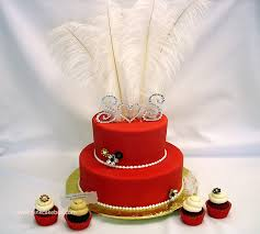 2 tiered red wedding cake wedding cakes