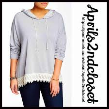 tunic hoodie pullover new with tags retail price 78 tunic hoodie