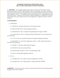 army sop template business template