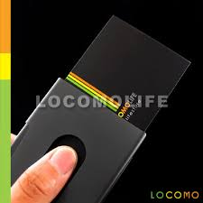 Store Business Credit Cards Thumb Sliding Slider Business Credit Card Case Holder Black