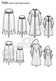 simplicity halloween costume patterns simplicity 1349 boys u0027 and men u0027s capes