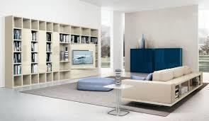 living room modern sofa sophisticated bookcase open plan living