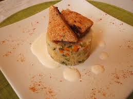 riz cuisiné poisson pané et riz cuisiné aux légumes in tartiflette i trust