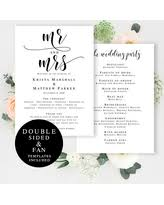 Rustic Wedding Program Fans Amazing Deal Rustic Wedding Program Fan Template Fan Wedding