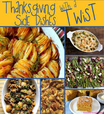 a twist on traditional thanksgiving side dishes womble