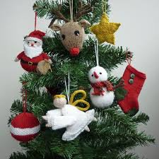 christmas ornaments knitting pattern sets christmas ornament