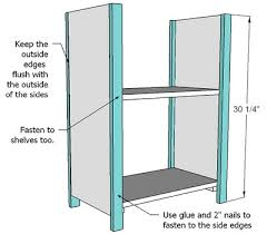Basic Wood Bookshelf Plans by Ana White Simple Bookshelves Tall Thin Diy Projects