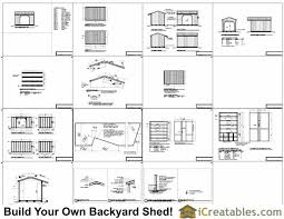 Plans For Building A Firewood Shed by 8x12 Firewood Shed Plans Icreatables Com