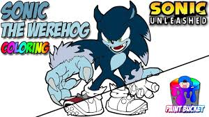 coloring sonic the werehog transformation coloring page sonic