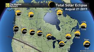 Map Of Time Zones In Canada by News Clear Cloudy What Will Canada See For The Solar Eclipse