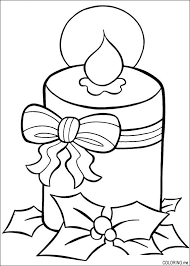 coloring christmas burning candle coloring