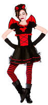Girls Halloween Vampire Costume Vamparina Girls Halloween Party Fancy Dress Kids Childs