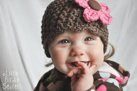 new baby hat and bootie patterns in the shop plus a free flower