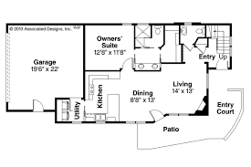 Bi Level Floor Plans With Attached Garage by Contemporary House Plans Parkview 30 905 Associated Designs