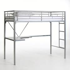 lit surélevé avec bureau lit mezzanine avec bureau en métal janik gris la redoute interieurs