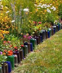 19 sustainable diy wine bottle outdoor decorating ideas