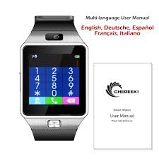 chereeki smart watch with camera sim tf card slot bluetooth