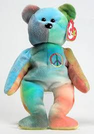 peace bear ty beanie babies beanie babies