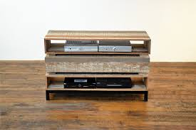 sumptuous reclaimed wood tv stand in living room contemporary with