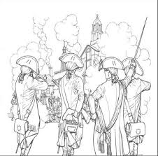 revolutionary war coloring pages kids social studies
