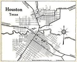 of houston cus map houston maps houston past
