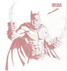 how to draw batman part 2
