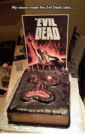 Evil Dead Meme - my cousin made this evil dead cake eval mean meme on esmemes com