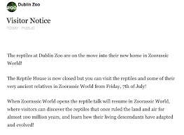 Zoo Resume Dublin Zoo Broadsheet Ie